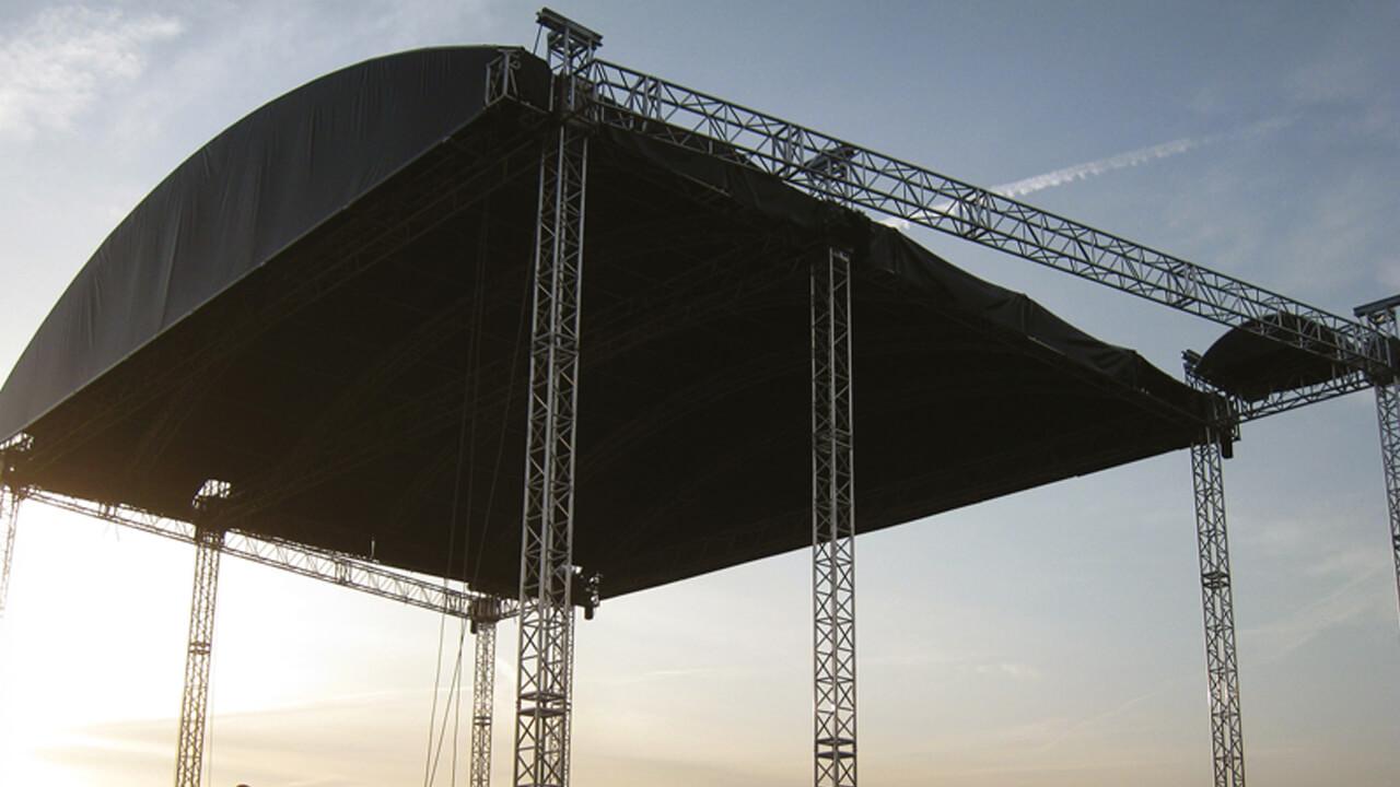 Verkauf von Travensysteme und Bühnenüberdachungen